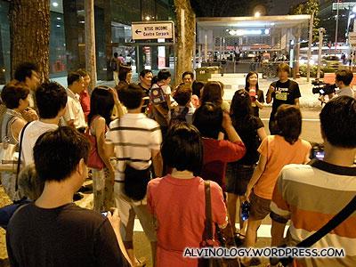DJs leading a short walk to the next destination - Settler's Cafe