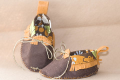 Jungle Shoes (Cindy - Vintage To New) Tags: baby shoe handmade jungle handsewn babyshower bootie woolfelt