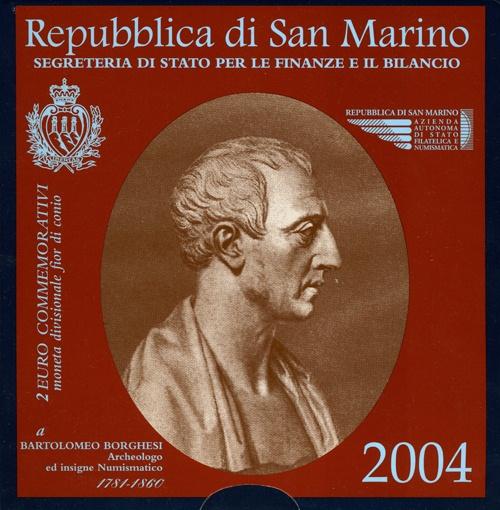 2 Euro San Marino 2004, Borghesi