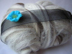 Headband with felt flower