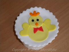 Chicken little cupcake