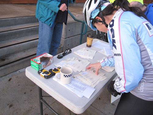 Rider check-in