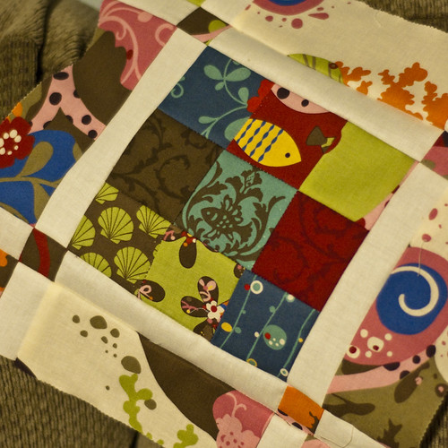 Jelly Roll Quilt Along Block #1