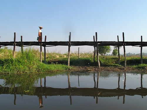 Bridge over Inle Lake