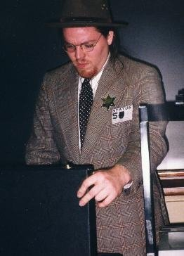 Me as Arthur Drake, Jr., at the Elysium on the Prairie vampire LARP many many years ago