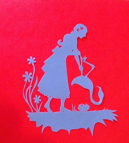 Scherenschnitt Alice in wonderland