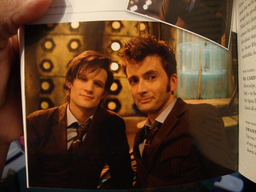 Matt Smith and David Tennant - the 10th and 11th Doctors