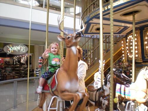 Ella & Grandma on carousel 1
