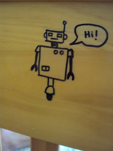 Robot vinyl stickers 4