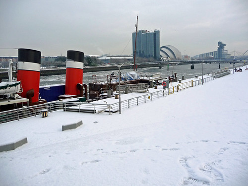 Ice-Bound  River Clyde and Waverley