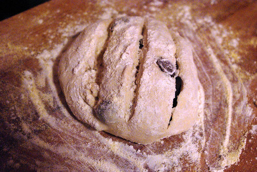 Olive bread dough