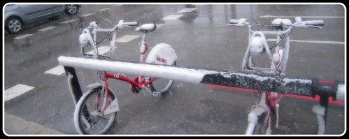 Nieva en BCN 8/03/2010