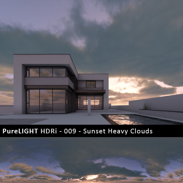 PureLIGHT HDRi 009 - Sunset Heavy Clouds