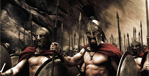300 Angry, Ripped Spartans