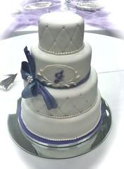 Jones Wedding (Cake~n~Bake) Tags: wedding cake silver bride spring purple ceremony marriage pearls reception quilting strazle