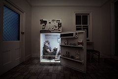 5/52 — Cool man (jæms) Tags: selfportrait man cold ice me trapped fridge victim explore refrigerator corpse bound 52 suffocate hostage remoteflash remoteshutter yeahthatsfilminthedoor