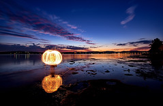 "The ""Orb"" @ Warners Bay (Jaysee&Dali 1.0) Tags: longexposure light newcastle 10 australia sparklers nsw sparkler lakemacquarie warnersbay theesplanade speerspoint jayseedali jayseedali10"