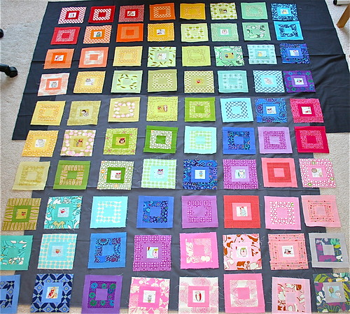 Paintbox Quilt-a-long Blocks on grey