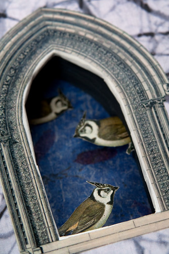 Altered Book: The Littlest Birds - detail
