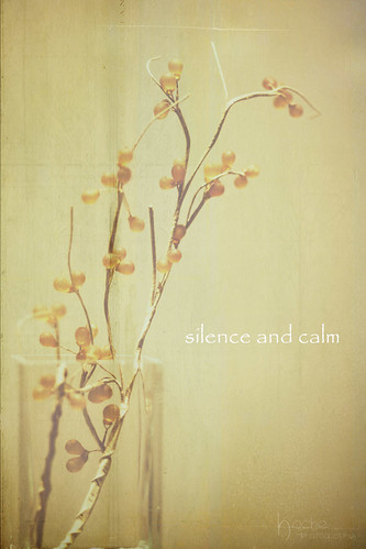 Silence and calm