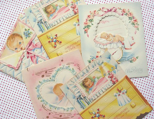 Vintage Baby Cards