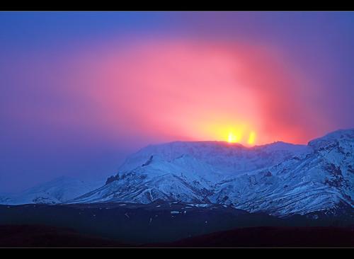 Ausbruch eines Vulkan auf Island