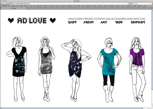 NEW WEBSITE for AD LOVE!