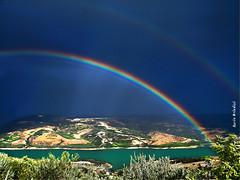 Arcobaleno sul lago di Occhito - Rainbow on the Occhito lake (Explore) (Marioleona) Tags: italy landscape rainbow paisaje paisagem land arcobaleno paesaggio landschap molise appennini occhito sannio valfortore mariobrindisi