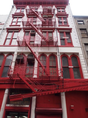 Red stairs in Soho