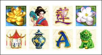 free Golden Lotus slot game symbols