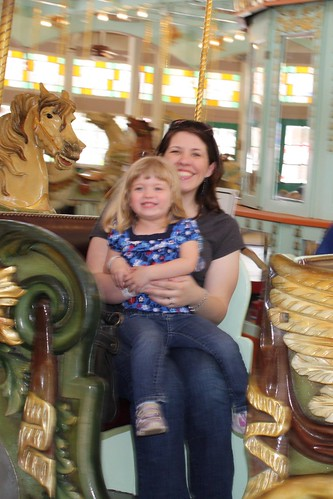 Catie & me on the carousel
