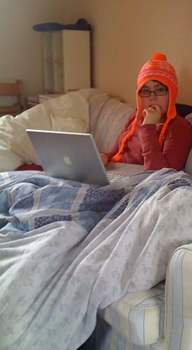 Girl In The Fluorescent Orange Hat