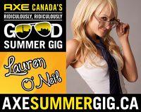 Lauren ONizzle AXE contest promotion banner