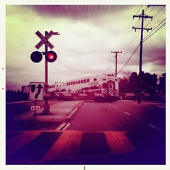 METROLINK (Mike Chen aka Full Time Taekwondo Dad) Tags: railroad crossing metrolink iphone hipstamatic