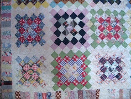 Diamonds Squared with Pieced Border