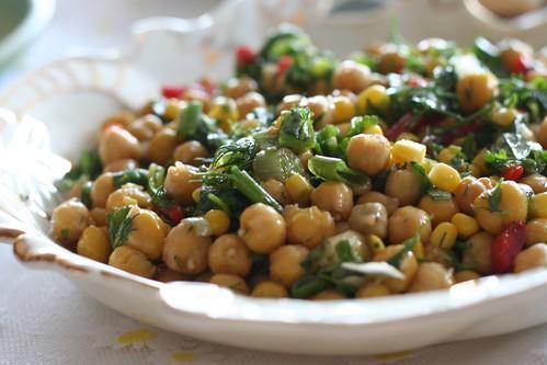 hünerin nohutlu salatası