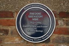 Photo of Freddie Shenston blue plaque