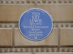 Photo of Ted 'Kid' Lewis blue plaque
