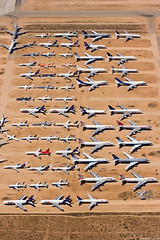 Victorville Boneyard (buzz100ca) Tags: california airplane airport storage southern airline scrap boneyard retirement logistics victorville airlinersnet vcv kvcv