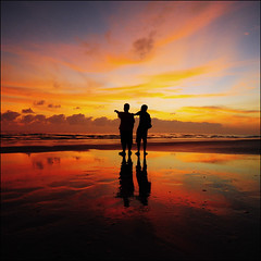 Better Together (-nasruddinmukhtar-) Tags: sunset sky reflection wet silhouette clouds square landscape nikon sigma crop malaysia cropped 1020mm nipah kelantan bettertogether d90 lanskap topshots bachok nasruddin peopleenjoyingnature nasruddinmukhtar pantaichat kelantanindah