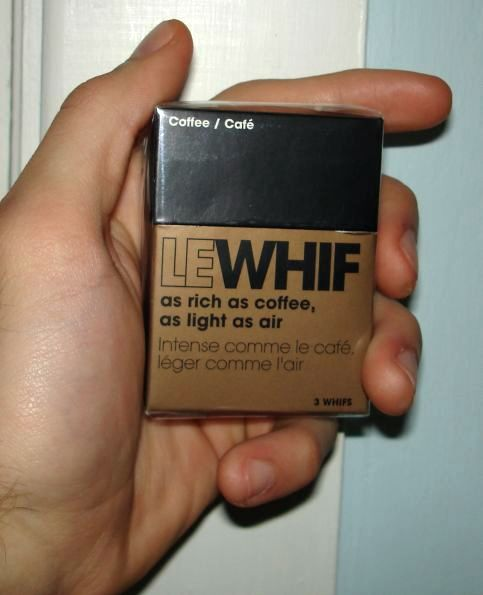 Le Whif came in a cigarette packaging