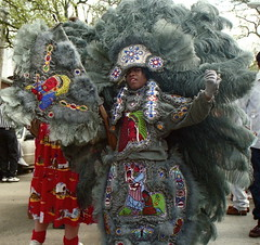 Indian in Gray (Ed Newman) Tags: louisiana neworleans supersunday mardigrasindians