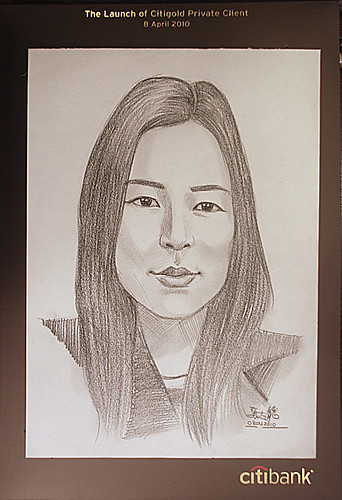 Portrait live sketching for CitiGold - 4