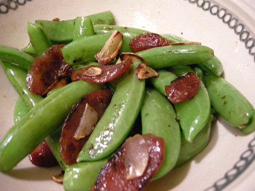 Lazyass Cookin': Sauteed Sugarsnap Peas w/ Lap Cheong