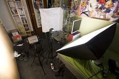 A mess (Miles Cave) Tags: anime up set studio poster bedroom mess shot room manga estudio messy setup otaku figures softbox strobe casero 300w strobist yn460 godox