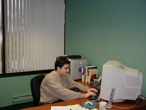 Ronnie in 2002 at His Desk at RustyBrick Office