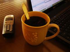 my office... (Estragos y Luces Brillantes) Tags: house home coffee café notebook casa office phone oficina teléfono hogar cupofcoffee workathome drinkcoffee trabajoencasa bebercafé