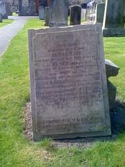 Tait Grave at Cross Kirk, Peebles