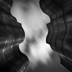 Opposing Forces (Jeff Gaydash) Tags: longexposure blackandwhite abstract architecture square nd110