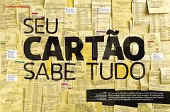 Seu carto sabe tudo (Gabriel Gianordoli) Tags: magazine design card credit editorial